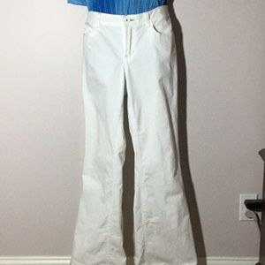 White Bootcut Jeans Size 14
